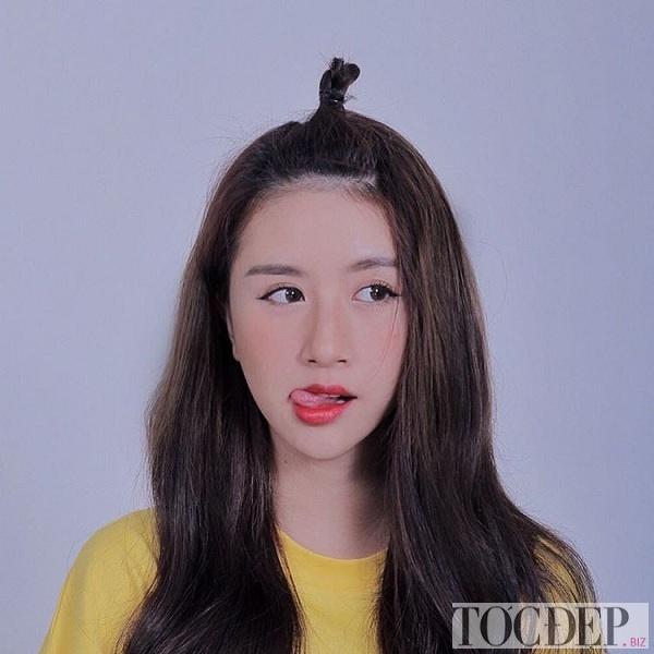 Buộc tóc mái đẹp