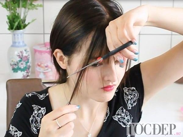 Cách cắt mái ngố