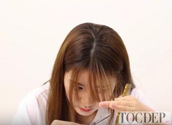 Cách cắt tóc mái thưa