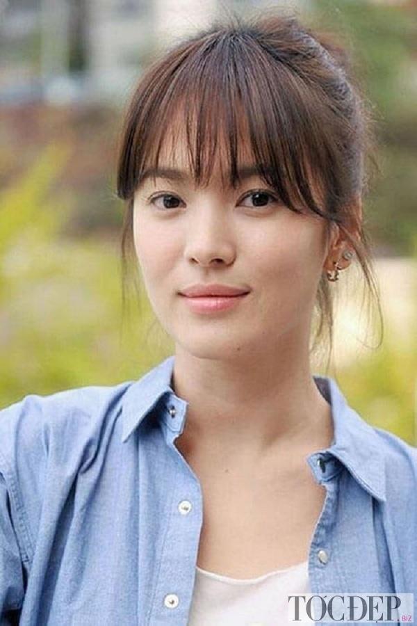 Tóc mái thưa Song Hye Kyo