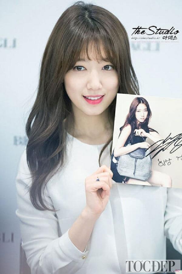 Tóc mái thưa Park Shyn Hye