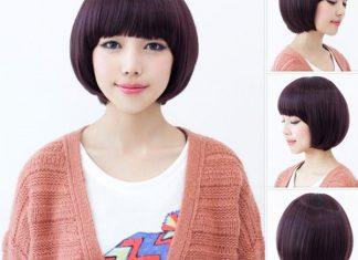 tóc ngắn mái bằng