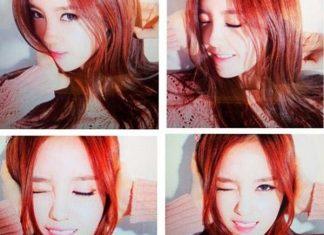 nhuộm tóc màu đỏ cam