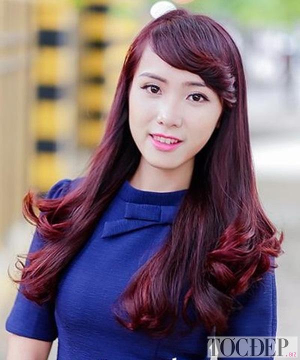 nhuộm tóc màu đỏ đồng