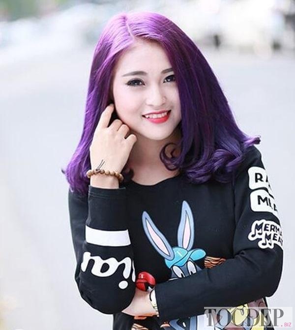 tóc màu tím khói
