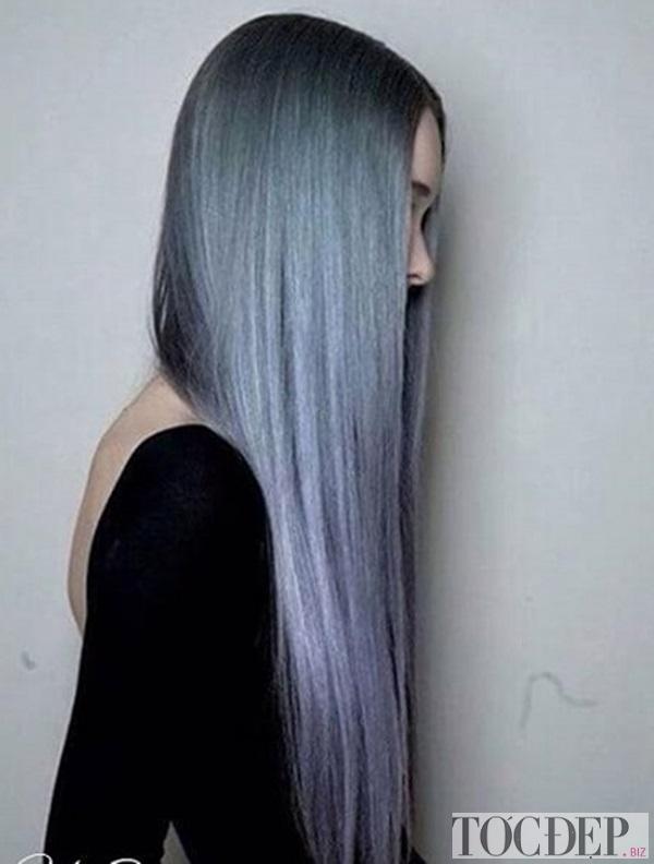 tóc màu đen khói