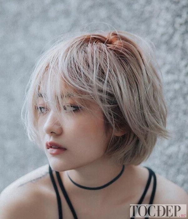 tóc màu nâu rêu ánh kim
