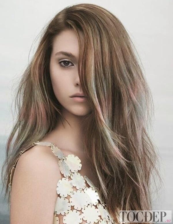 tóc màu nâu rêu trầm