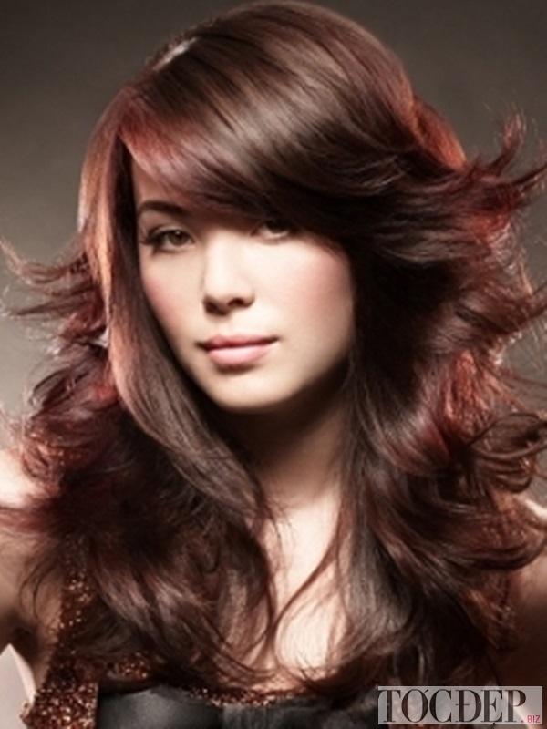 tóc màu nâu socola