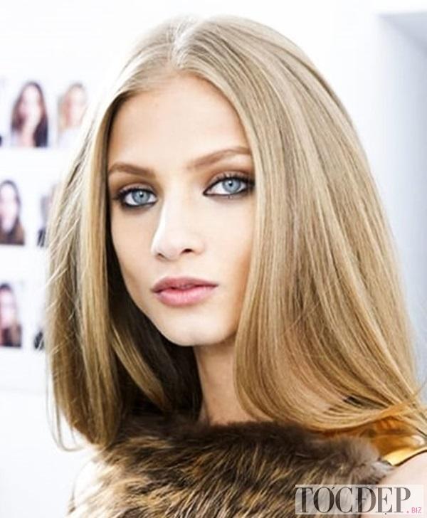 tóc màu nâu vàng ánh kim