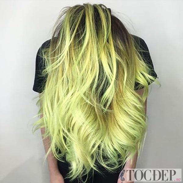 tóc màu vàng rêu khói