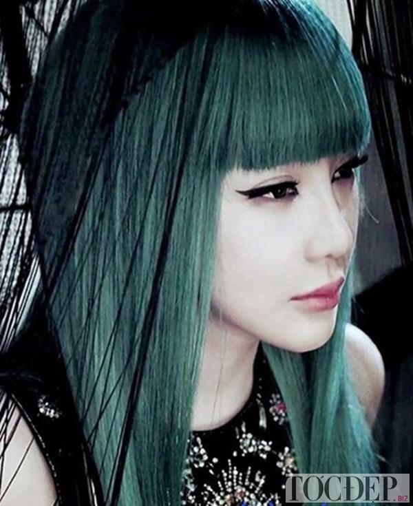 tóc xanh rêu khói