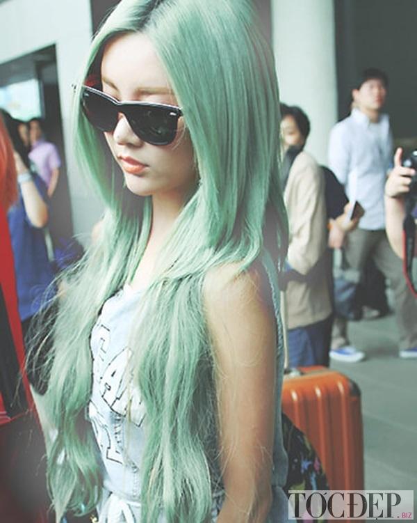 tóc xanh rêu trầm