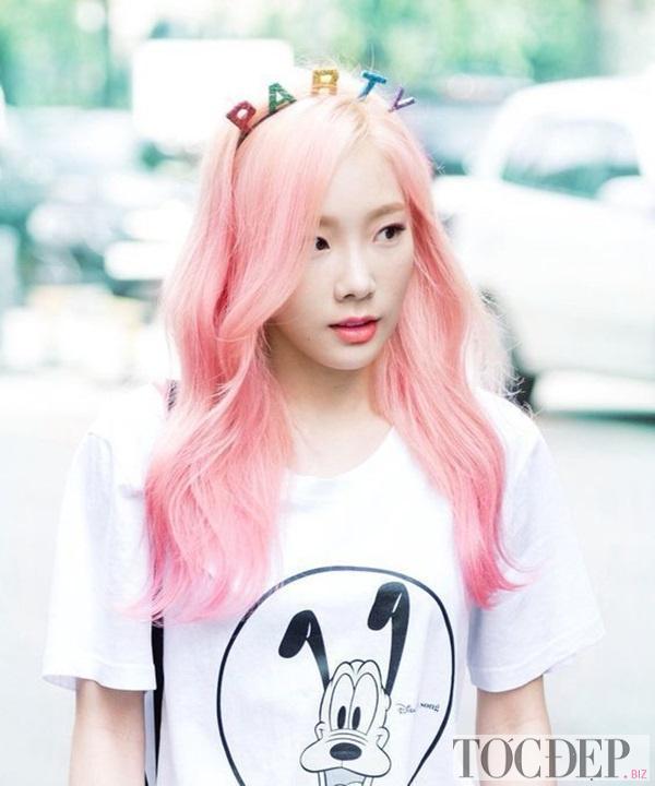 nhuộm tóc màu hồng