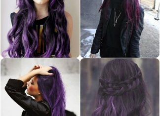 nhuộm tóc màu tím trầm
