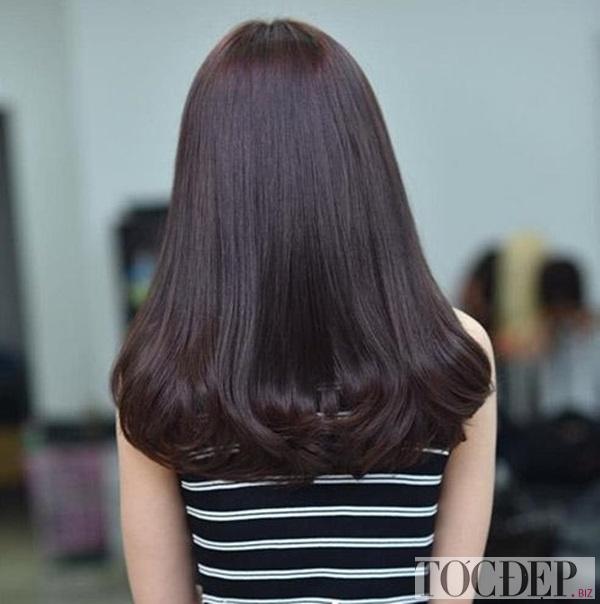 tóc nhuộm nâu đen
