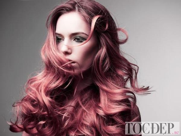 tóc ánh đỏ