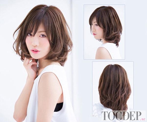 tóc bob uốn đuôi