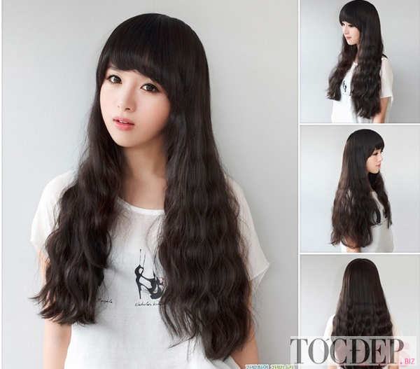 tóc xoăn dài đẹp