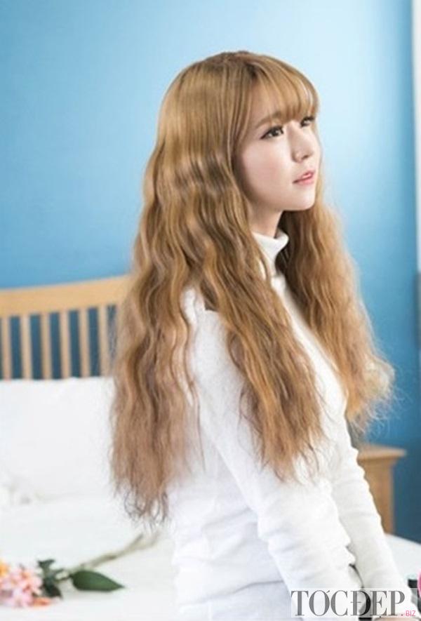 tóc xoăn lọn nhỏ