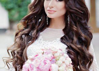 tóc xoăn dài cho cô dâu