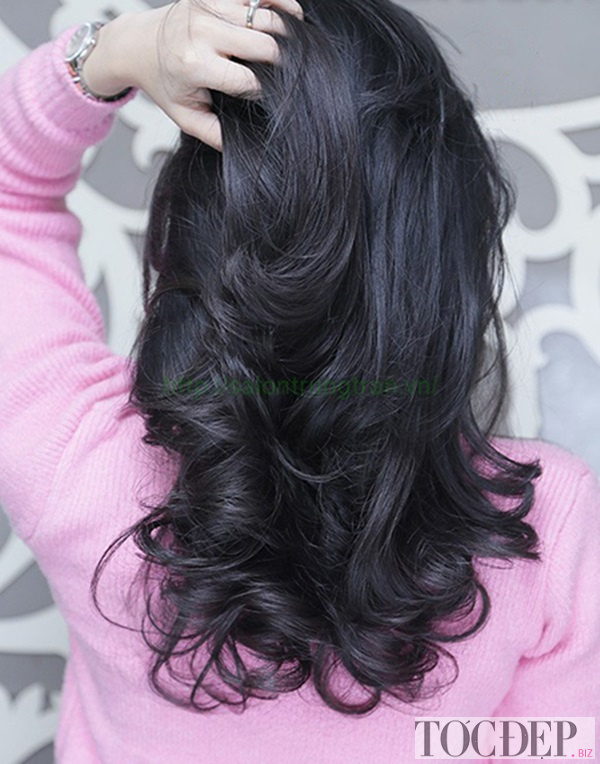 tóc xoăn chữ C ngang lưng